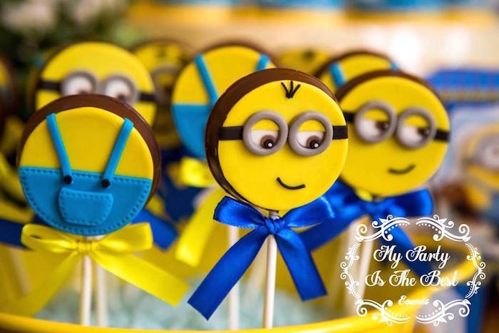 Minion Lollipops From A Minions Birthday Party Via Karas Ideas