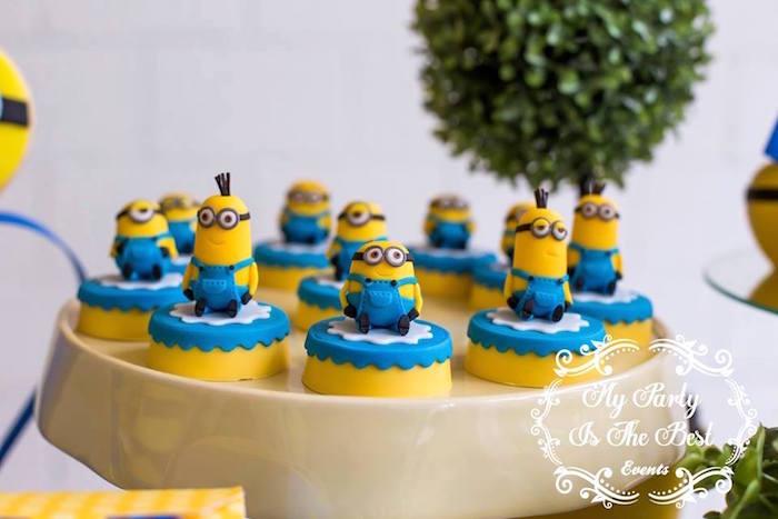 Covered Oreos from a Minions Birthday Party via Kara's Party Ideas | KarasPartyIdeas.com (17)