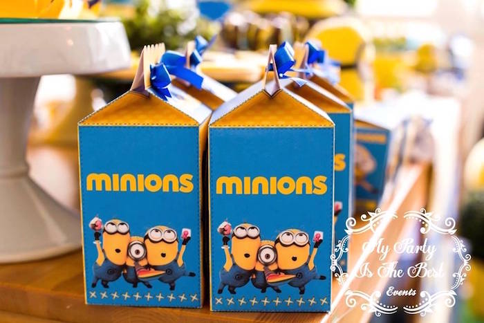 Minion Favor Boxes from a Minions Birthday Party via Kara's Party Ideas | KarasPartyIdeas.com (15)