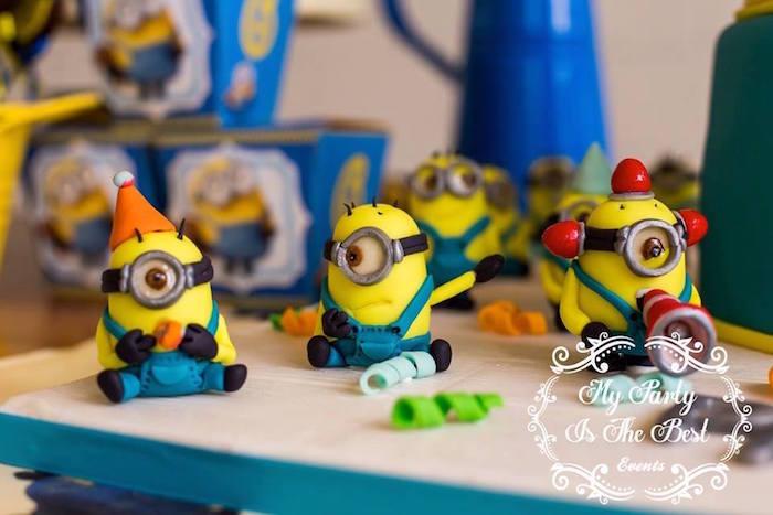 Minion Cake Detail from a Minions Birthday Party via Kara's Party Ideas | KarasPartyIdeas.com (13)