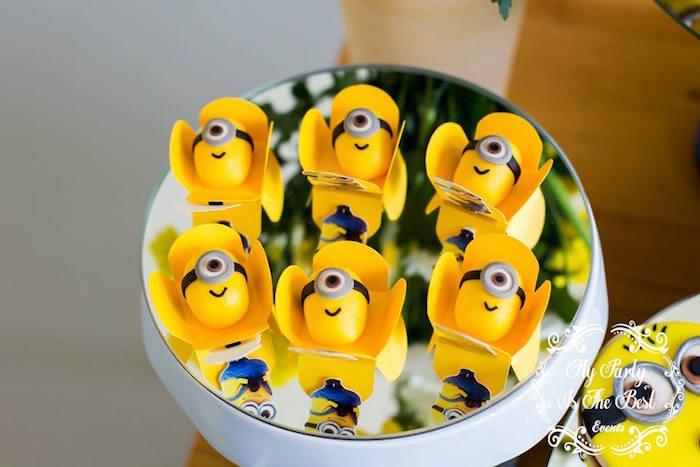 Minion Sweets from a Minions Birthday Party via Kara's Party Ideas | KarasPartyIdeas.com (11)