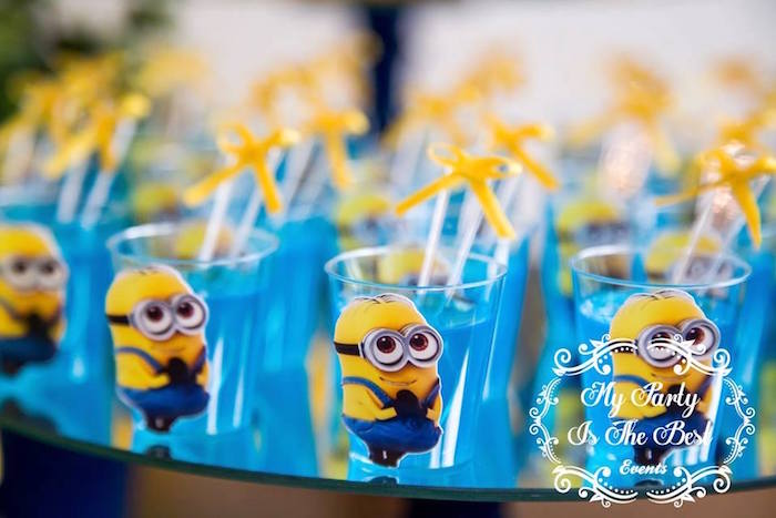 Jello Cups from a Minions Birthday Party via Kara's Party Ideas | KarasPartyIdeas.com (8)