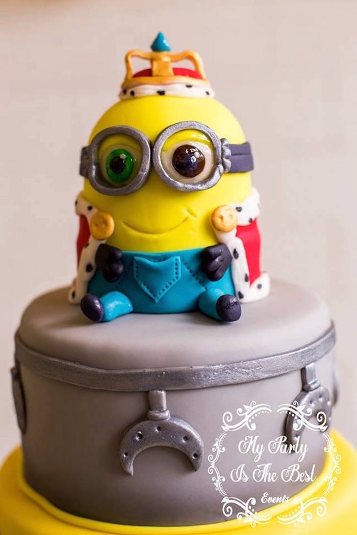 Minion Cake Detail from a Minions Birthday Party via Kara's Party Ideas | KarasPartyIdeas.com (40)