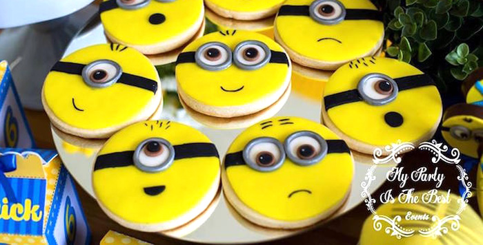Minion Cookies from a Minions Birthday Party via Kara's Party Ideas | KarasPartyIdeas.com (2)