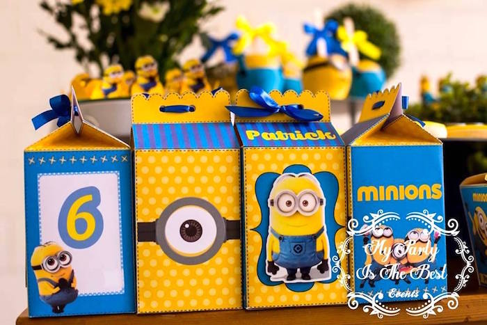 Minion Favor Boxes from a Minions Birthday Party via Kara's Party Ideas | KarasPartyIdeas.com (38)