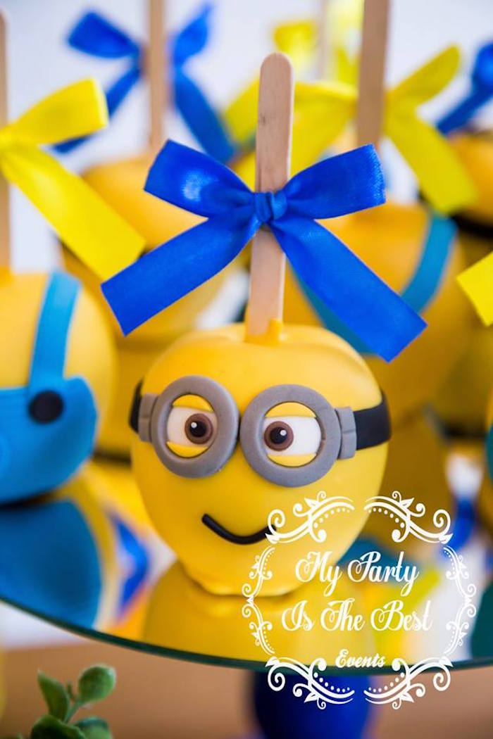 Minion Apple from a Minions Birthday Party via Kara's Party Ideas | KarasPartyIdeas.com (36)