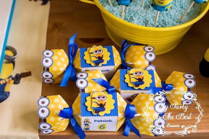 Favor Boxes from a Minions Birthday Party via Kara's Party Ideas | KarasPartyIdeas.com (35)
