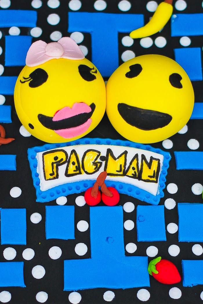 Cake Detail from a Pac Man Themed Birthday Party via Kara's Party Ideas | KarasPartyIdeas.com (21)
