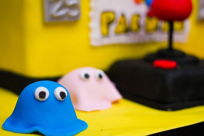 Cake Detail from a Pac Man Themed Birthday Party via Kara's Party Ideas | KarasPartyIdeas.com (20)