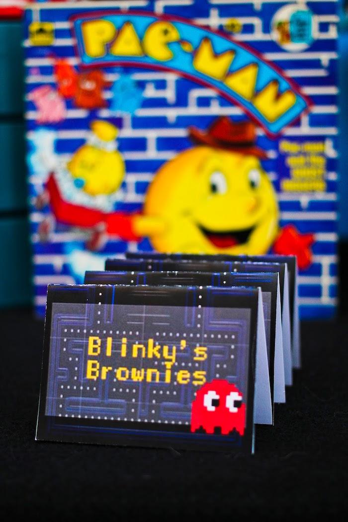 Dessert Label from a Pac Man Themed Birthday Party via Kara's Party Ideas | KarasPartyIdeas.com (17)