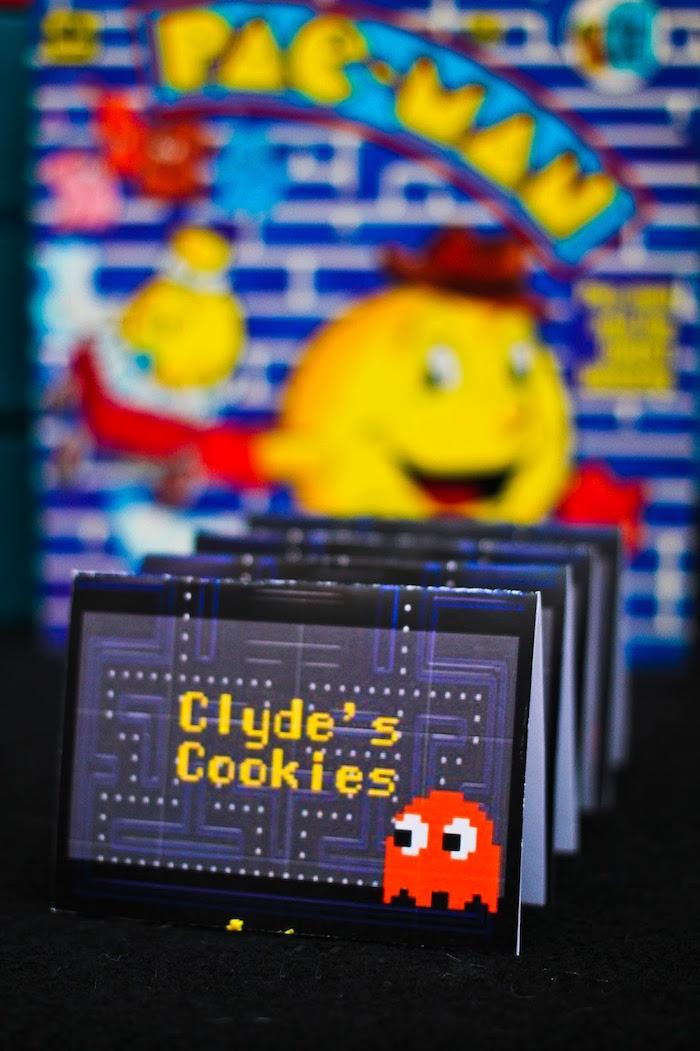 Sweet Label from a Pac Man Themed Birthday Party via Kara's Party Ideas | KarasPartyIdeas.com (15)