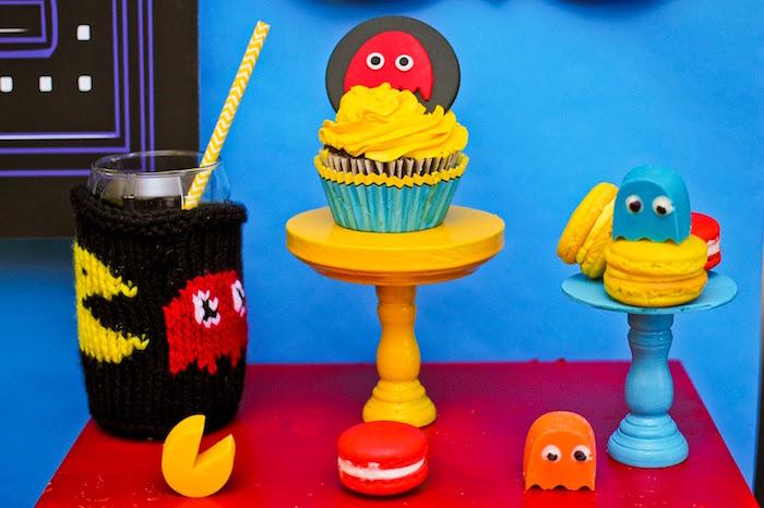 Pacman Table Game >> Kara's Party Ideas Pac Man Themed Birthday Party | Kara's ...