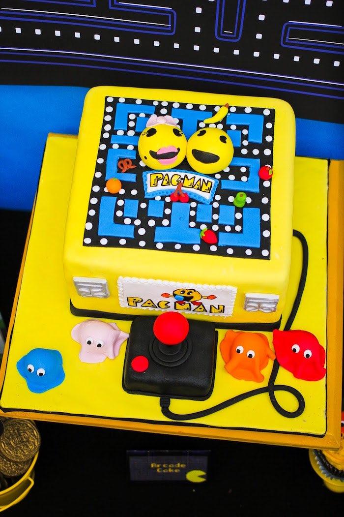 Pac Man-inspired Cake from a Pac Man Themed Birthday Party via Kara's Party Ideas | KarasPartyIdeas.com (9)