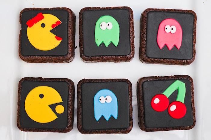 Brownies from a Pac Man Themed Birthday Party via Kara's Party Ideas | KarasPartyIdeas.com (8)