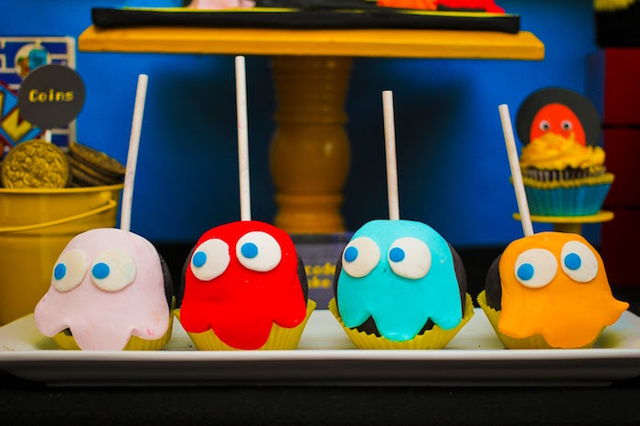 Ghost Pops From A Pac Man Themed Birthday Party Via Karas Ideas
