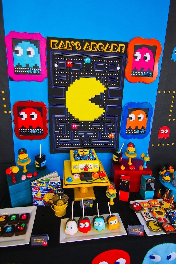 Dessert Table Details from a Pac Man Themed Birthday Party via Kara's Party Ideas | KarasPartyIdeas.com (3)