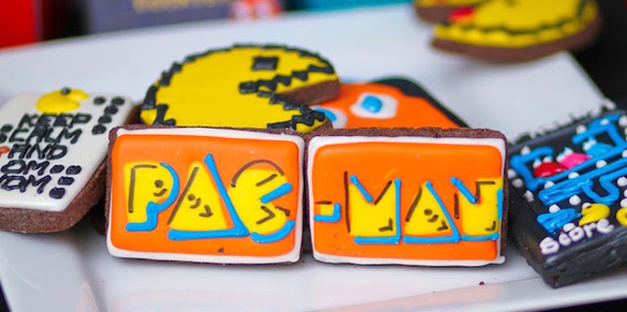 Cookies from a Pac Man Themed Birthday Party via Kara's Party Ideas | KarasPartyIdeas.com (1)