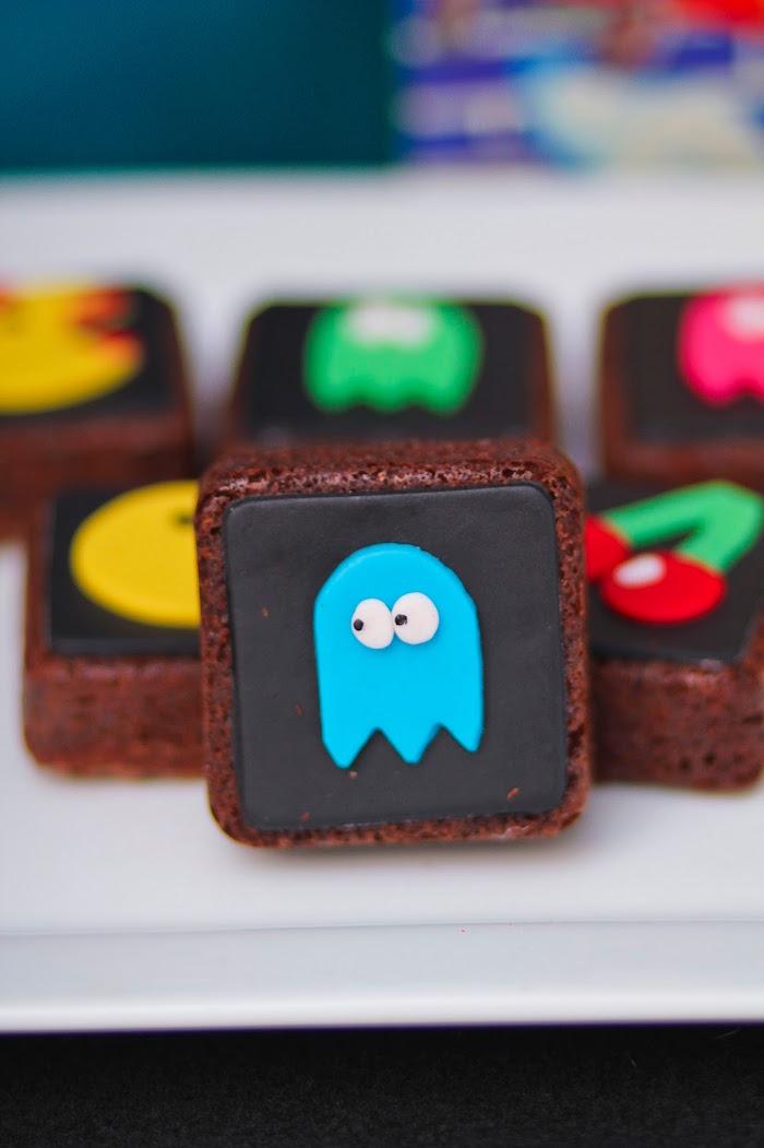 Brownies from a Pac Man Themed Birthday Party via Kara's Party Ideas | KarasPartyIdeas.com (31)