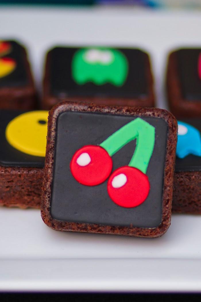 Brownie from a Pac Man Themed Birthday Party via Kara's Party Ideas | KarasPartyIdeas.com (30)