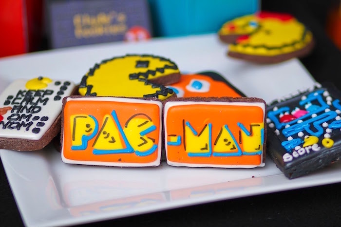 Cookies from a Pac Man Themed Birthday Party via Kara's Party Ideas | KarasPartyIdeas.com (28)