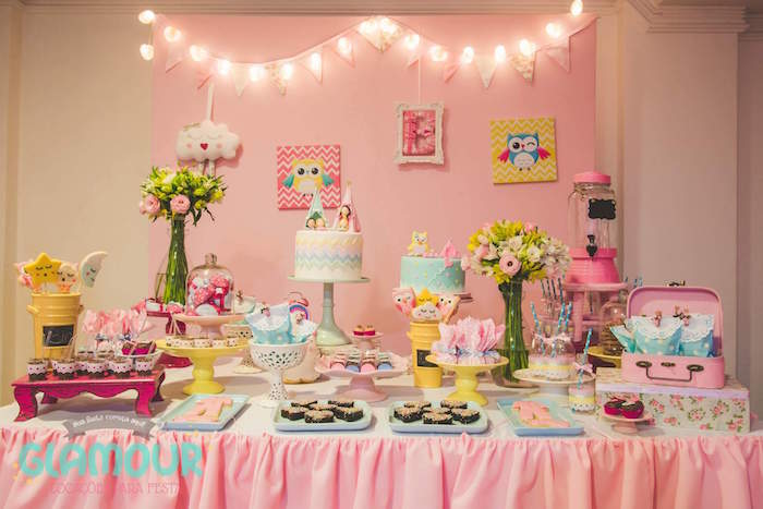 Dessert Table Details from a Pajama Sleepover Themed Birthday Party via Kara's Party Ideas | KarasPartyIdeas.com (28)