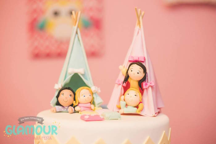 Top of Cake from a Pajama Sleepover Themed Birthday Party via Kara's Party Ideas | KarasPartyIdeas.com (26)