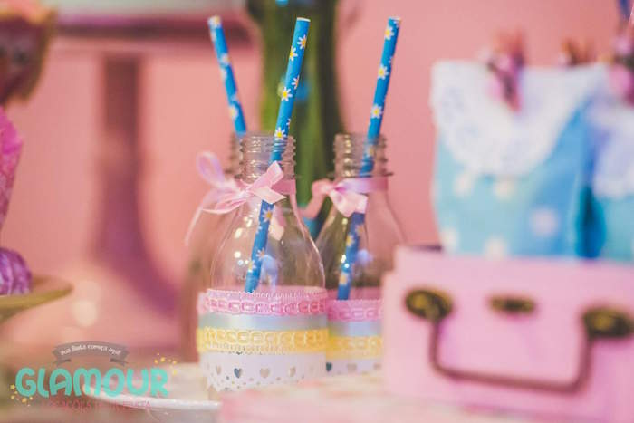 Drink Bottles from a Pajama Sleepover Themed Birthday Party via Kara's Party Ideas | KarasPartyIdeas.com (24)