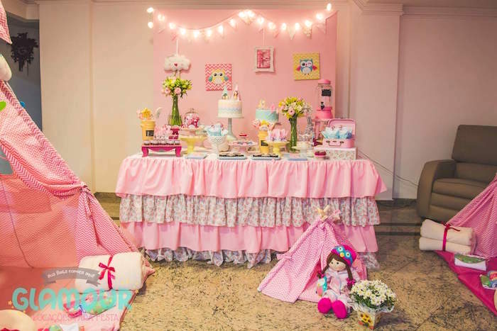 Dessert Table from a Pajama Sleepover Themed Birthday Party via Kara's Party Ideas | KarasPartyIdeas.com (23)