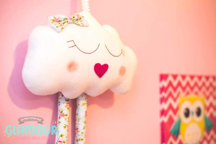 Felt Cloud from a Pajama Sleepover Themed Birthday Party via Kara's Party Ideas | KarasPartyIdeas.com (22)