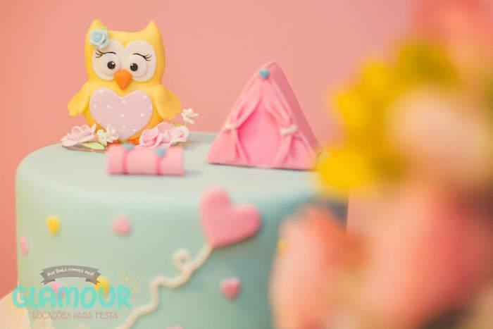 Cake Detail from a Pajama Sleepover Themed Birthday Party via Kara's Party Ideas | KarasPartyIdeas.com (14)