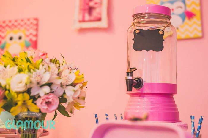 Drink Dispenser from a Pajama Sleepover Themed Birthday Party via Kara's Party Ideas | KarasPartyIdeas.com (10)