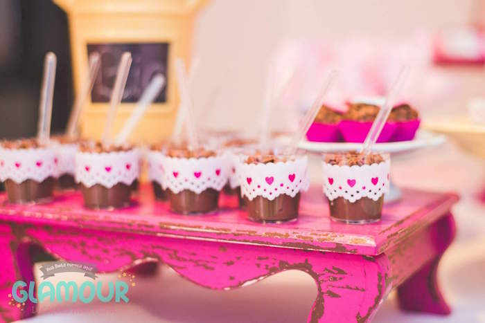 Dessert Cups from a Pajama Sleepover Themed Birthday Party via Kara's Party Ideas | KarasPartyIdeas.com (36)