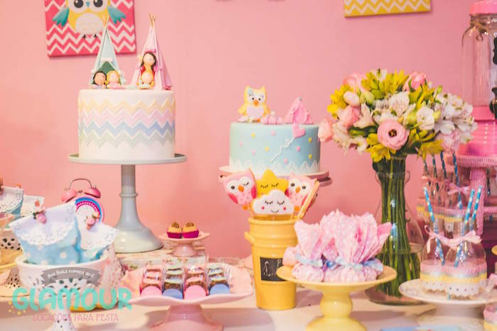 Sweet Table Details from a Pajama Sleepover Themed Birthday Party via Kara's Party Ideas | KarasPartyIdeas.com (7)