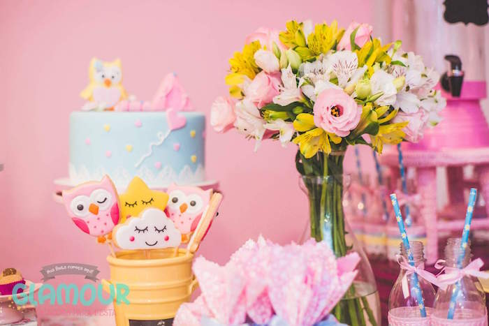 Sweet Table Details from a Pajama Sleepover Themed Birthday Party via Kara's Party Ideas | KarasPartyIdeas.com (33)