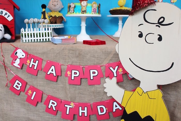 Charlie Brown Party Details from a Peanuts + Charlie Brown Birthday Party via Kara's Party Ideas | KarasPartyIdeas.com (17)