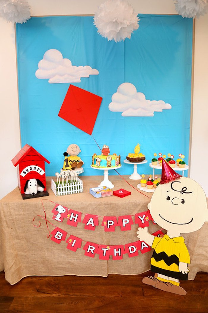 Peanuts Birthday Cake Toppers