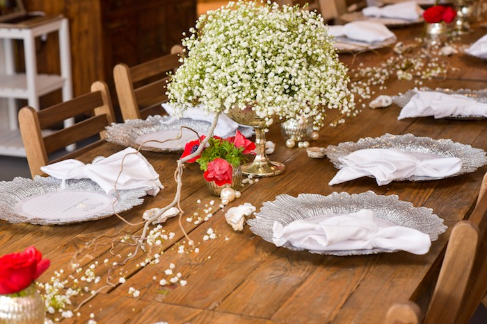 dining tablescape from a pearls of wisdom bridal shower via karau0027s party ideas
