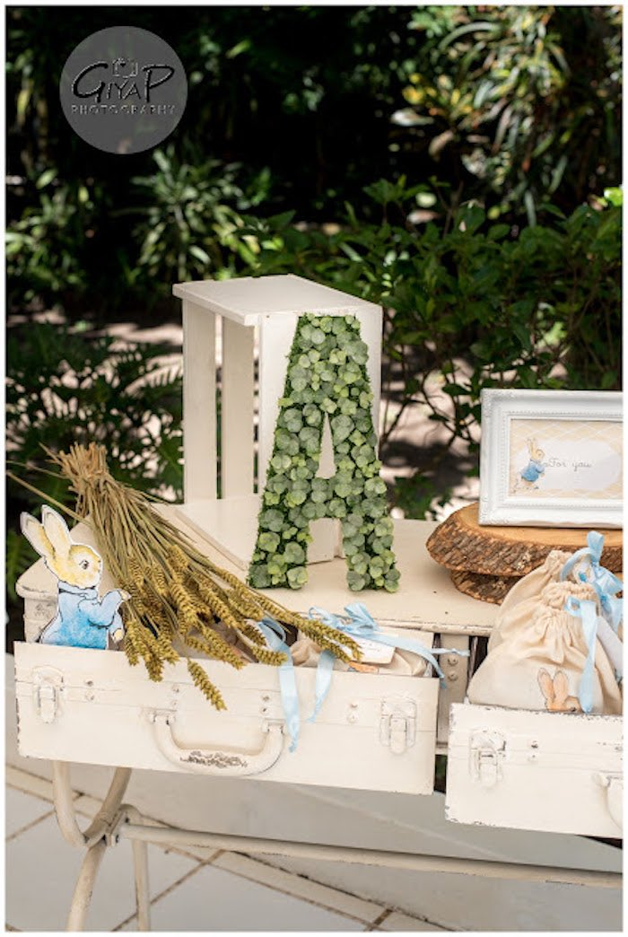 Decor + Details from a Peter Rabbit Birthday Party via Kara's Party Ideas | KarasPartyIdeas.com (14)