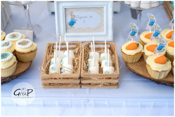 Marshmallow Pops + Sweets from a Peter Rabbit Birthday Party via Kara's Party Ideas | KarasPartyIdeas.com (12)