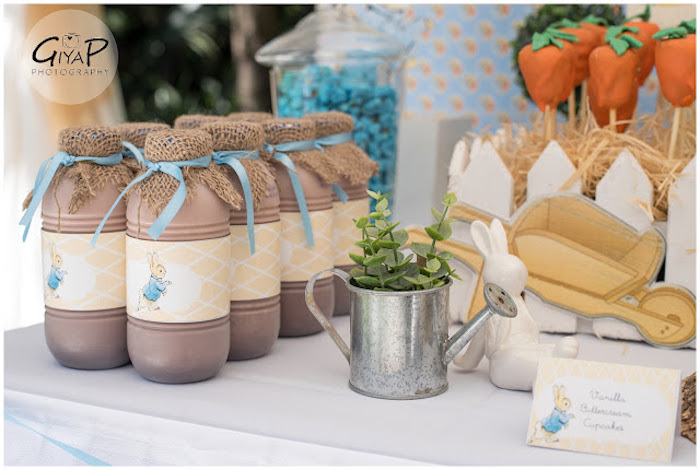 Drinks + Decor from a Peter Rabbit Birthday Party via Kara's Party Ideas | KarasPartyIdeas.com (11)