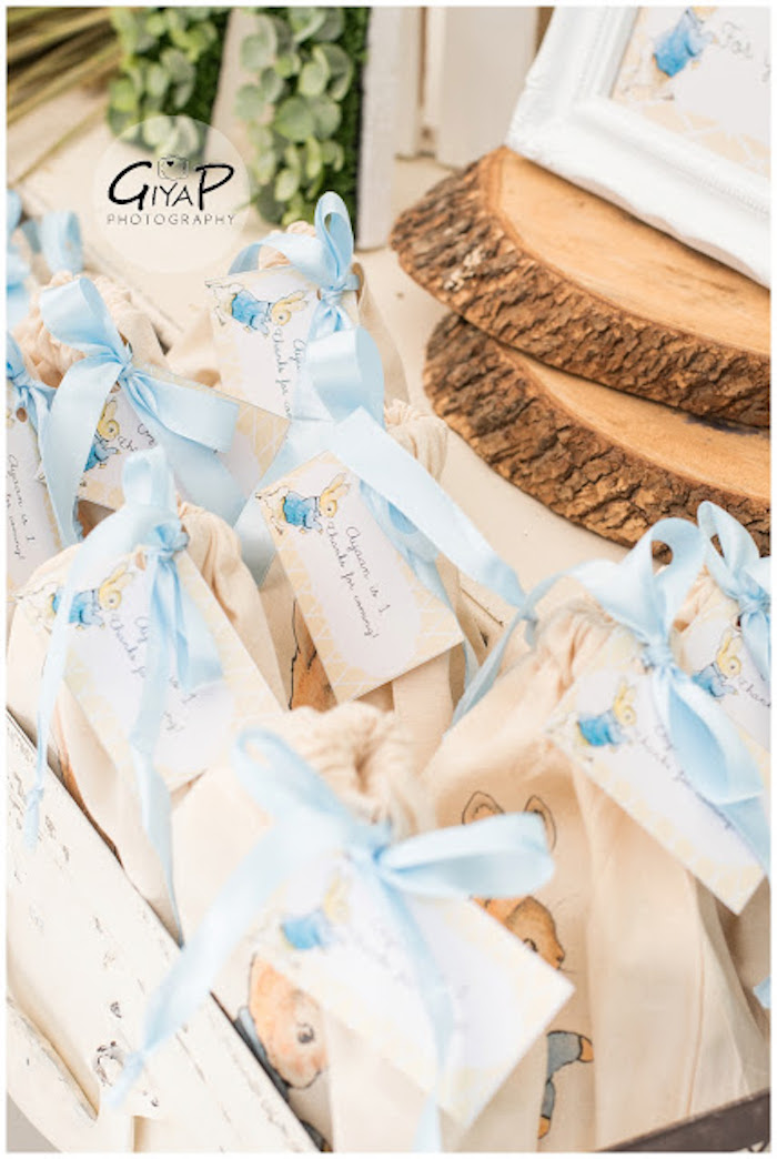 Custom Canvas Favor Bags from a Peter Rabbit Birthday Party via Kara's Party Ideas | KarasPartyIdeas.com (9)