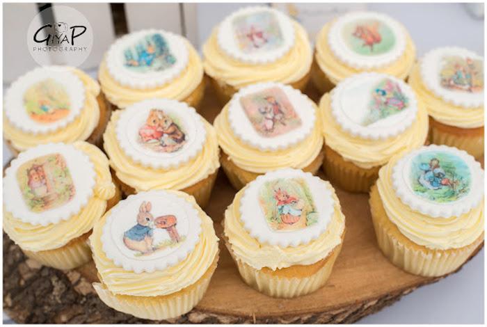 Cupcakes from a Peter Rabbit Birthday Party via Kara's Party Ideas | KarasPartyIdeas.com (8)