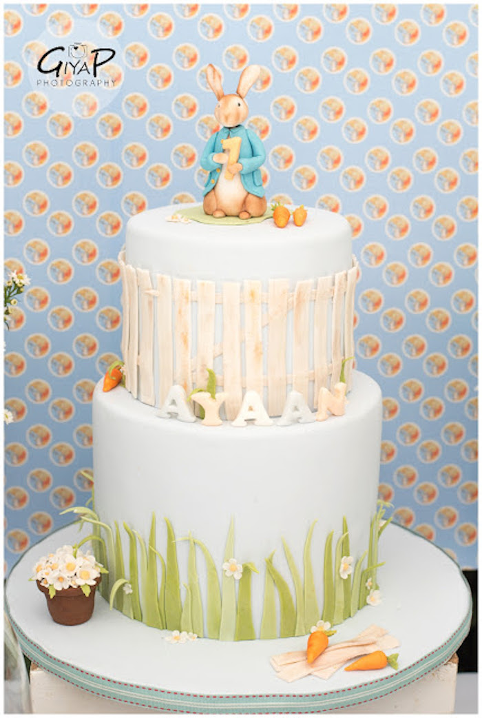 Cake from a Peter Rabbit Birthday Party via Kara's Party Ideas | KarasPartyIdeas.com (5)