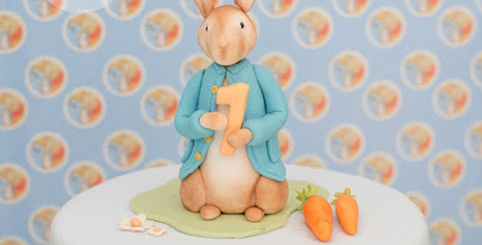Peter Rabbit Cake Topper from a Peter Rabbit Birthday Party via Kara's Party Ideas | KarasPartyIdeas.com (3)