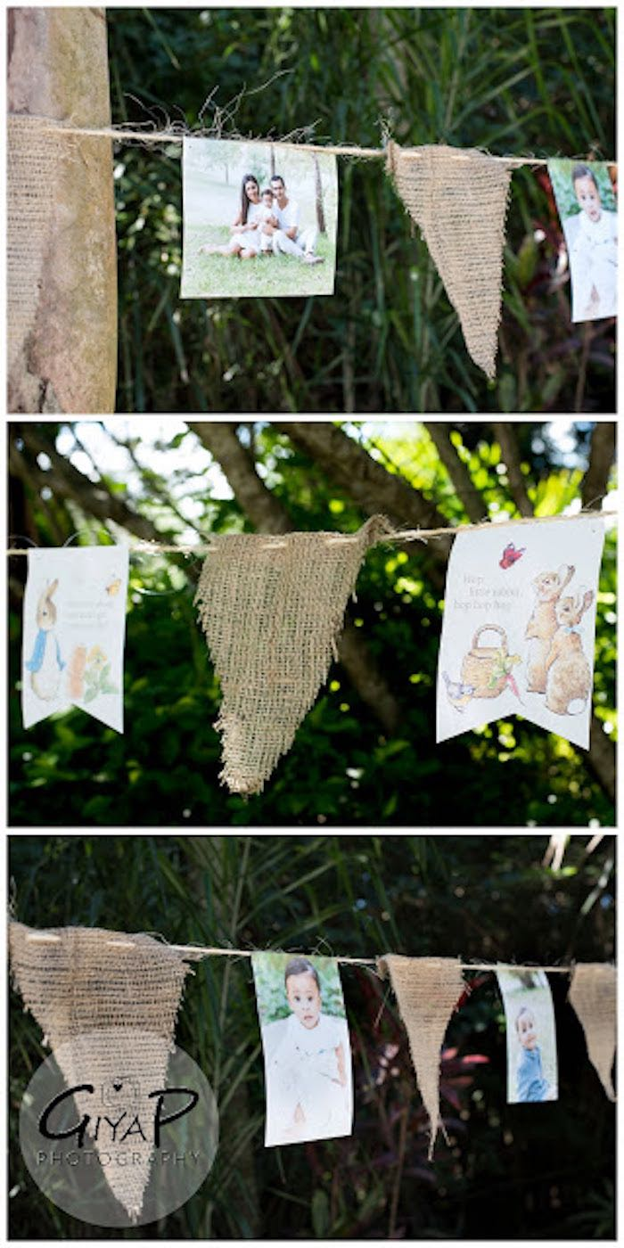 Banner from a Peter Rabbit Birthday Party via Kara's Party Ideas | KarasPartyIdeas.com (22)