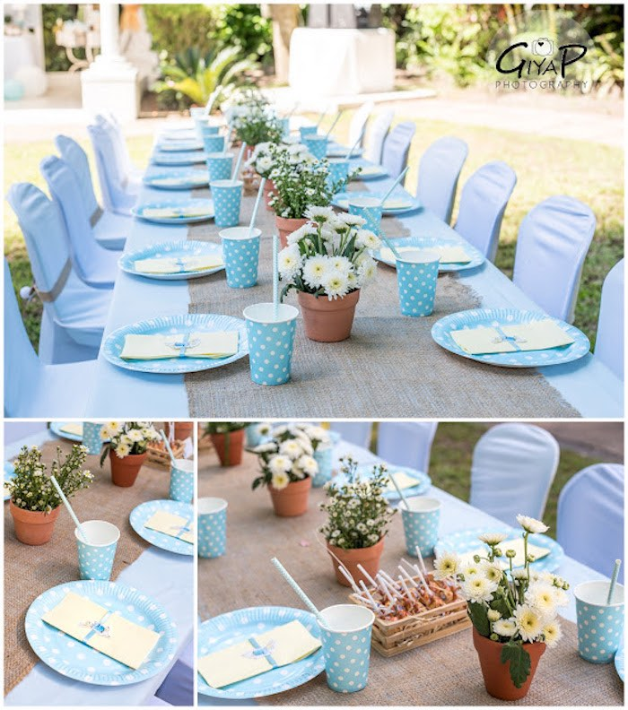 Guest Table Details from a Peter Rabbit Birthday Party via Kara's Party Ideas | KarasPartyIdeas.com (20)