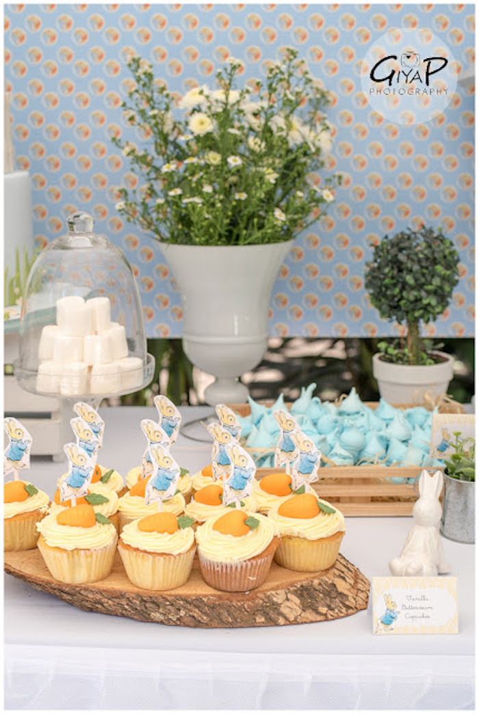 Sweet Table Details from a Peter Rabbit Birthday Party via Kara's Party Ideas | KarasPartyIdeas.com (18)