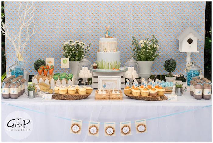 Kara S Party Ideas Peter Rabbit Garden 1st Birthday Party