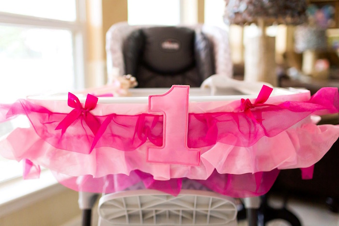 High Chair Banner from a Pink & Gold Cancer-Free 1st Birthday Party via Kara's Party Ideas | KarasPartyIdeas.com (21)