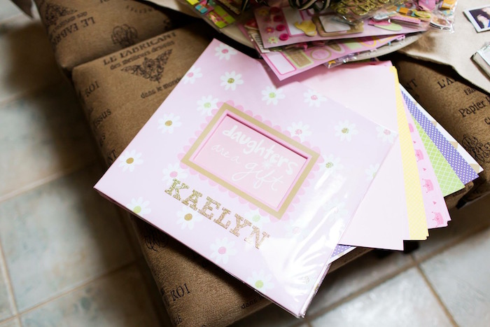 Scrapbook from a Pink & Gold Cancer-Free 1st Birthday Party via Kara's Party Ideas | KarasPartyIdeas.com (20)